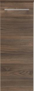 Unterschrank Walnussfarben - Chromfarben/Walnussfarben, MODERN, Glas/Holzwerkstoff (31/81/32cm) - Premium Living