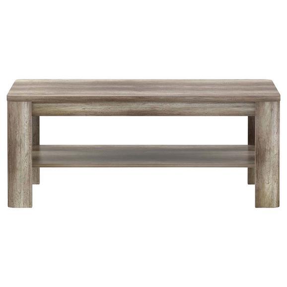 Măsuță Pentru Canapea Tiziano - culoare lemn stejar, Modern, plastic/compozit lemnos (110/45/60cm)