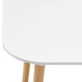 Tisch Anuk ca. 160x90 cm - Buchefarben/Weiß, MODERN, Holz (160/75/90cm) - Modern Living