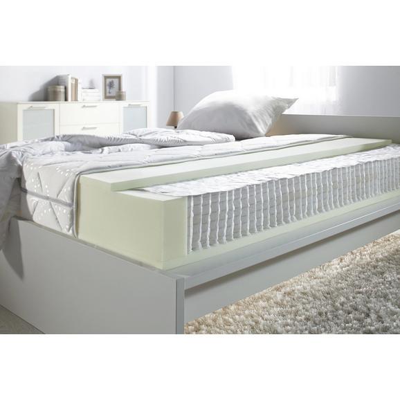 Partnermatratze Micro ca. 100x200cm - Weiß, Textil (100/200cm) - Nadana