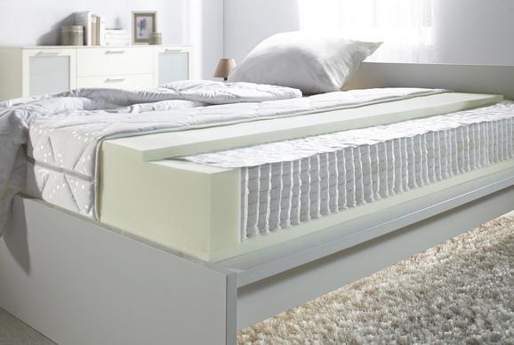 Taschenfederkernmatratze Premium Highline Micro 90x200 - Weiß, Textil (90/200cm) - Nadana