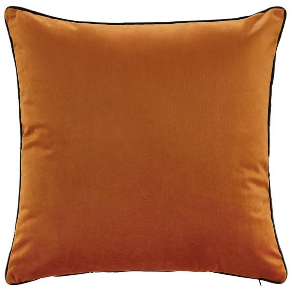 Kissen Malea ca.45x45cm in Rostfarben - Rostfarben, MODERN, Textil (45/45cm) - Bessagi Home
