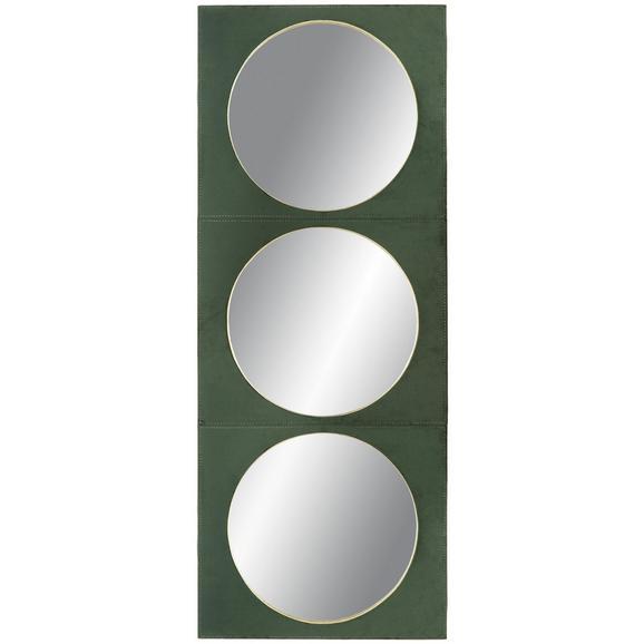 Spiegel aus Samt ca. 40x102cm - LIFESTYLE, Glas/Holzwerkstoff (40/102/2cm) - Modern Living