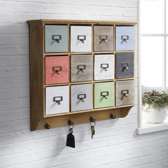 Garderobe Tina - Multicolor, KONVENTIONELL, Holz/Metall (58/51/13cm) - Bessagi Home