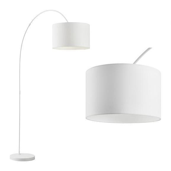 Stehleuchte Maddison - Weiß, MODERN, Textil/Metall (40/187/40cm) - Bessagi Home