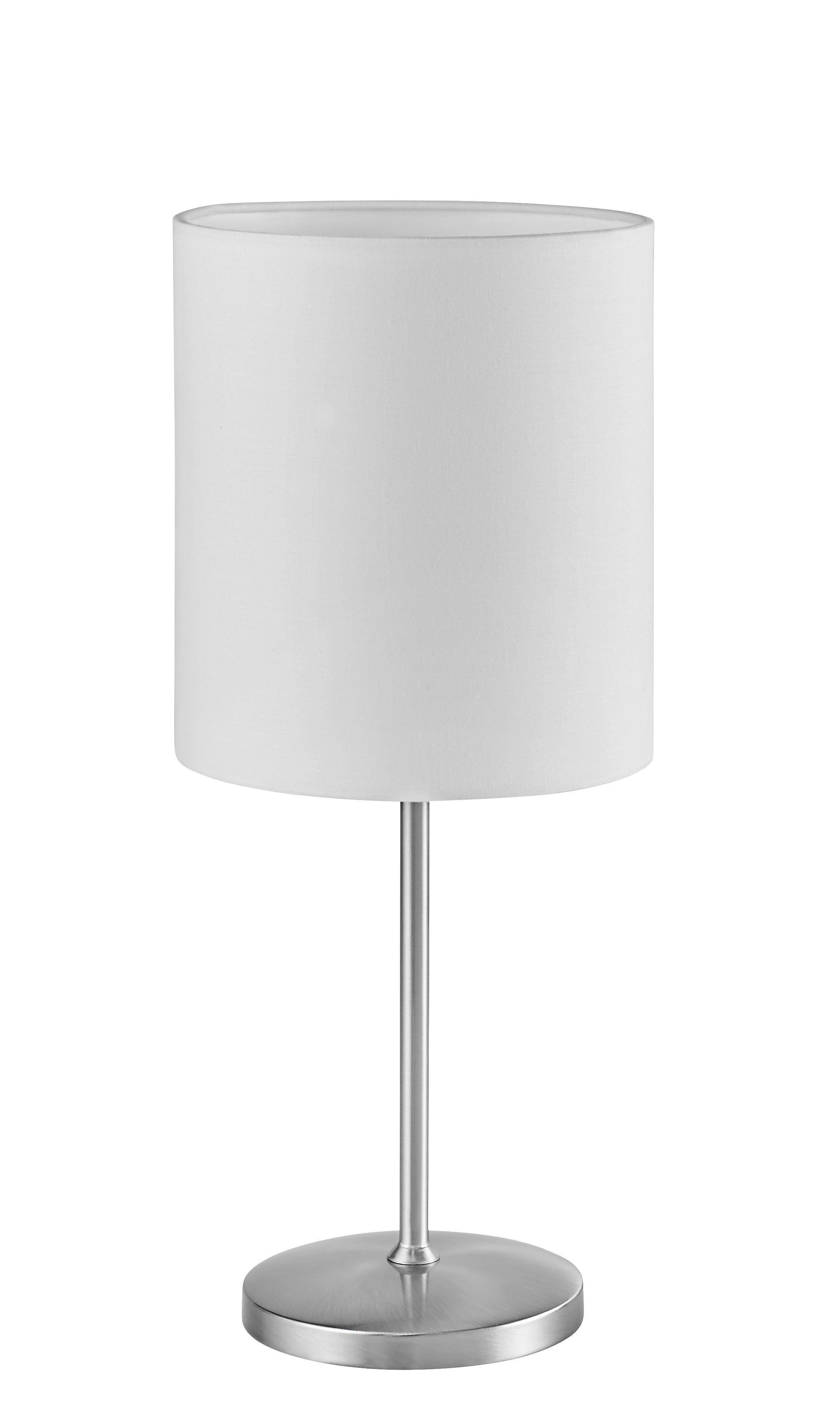 Tischleuchte Maxwell - Naturfarben/Nickelfarben, MODERN, Textil/Metall (18/42cm) - MÖMAX modern living