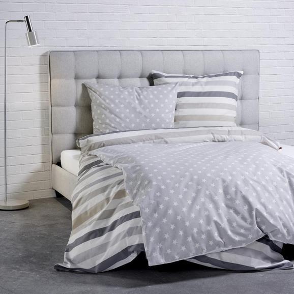 s.Oliver Baumwollbettwäsche - Beige/Weiß, MODERN, Textil (135x200/80x80cm) - S. Oliver