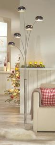 Stoječa Svetilka Stella - krom, Moderno, kamen/kovina (110/210cm) - Mömax modern living