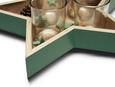 TEELICHTSCHALE Elen Hellgrün - Hellgrün, Glas/Holzwerkstoff (27,5/26,5cm) - Mömax modern living