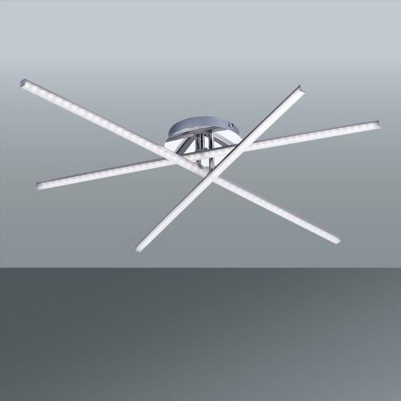 Stropna Led-svetilka Simon - nikelj, Konvencionalno, kovina (101/81/12cm)
