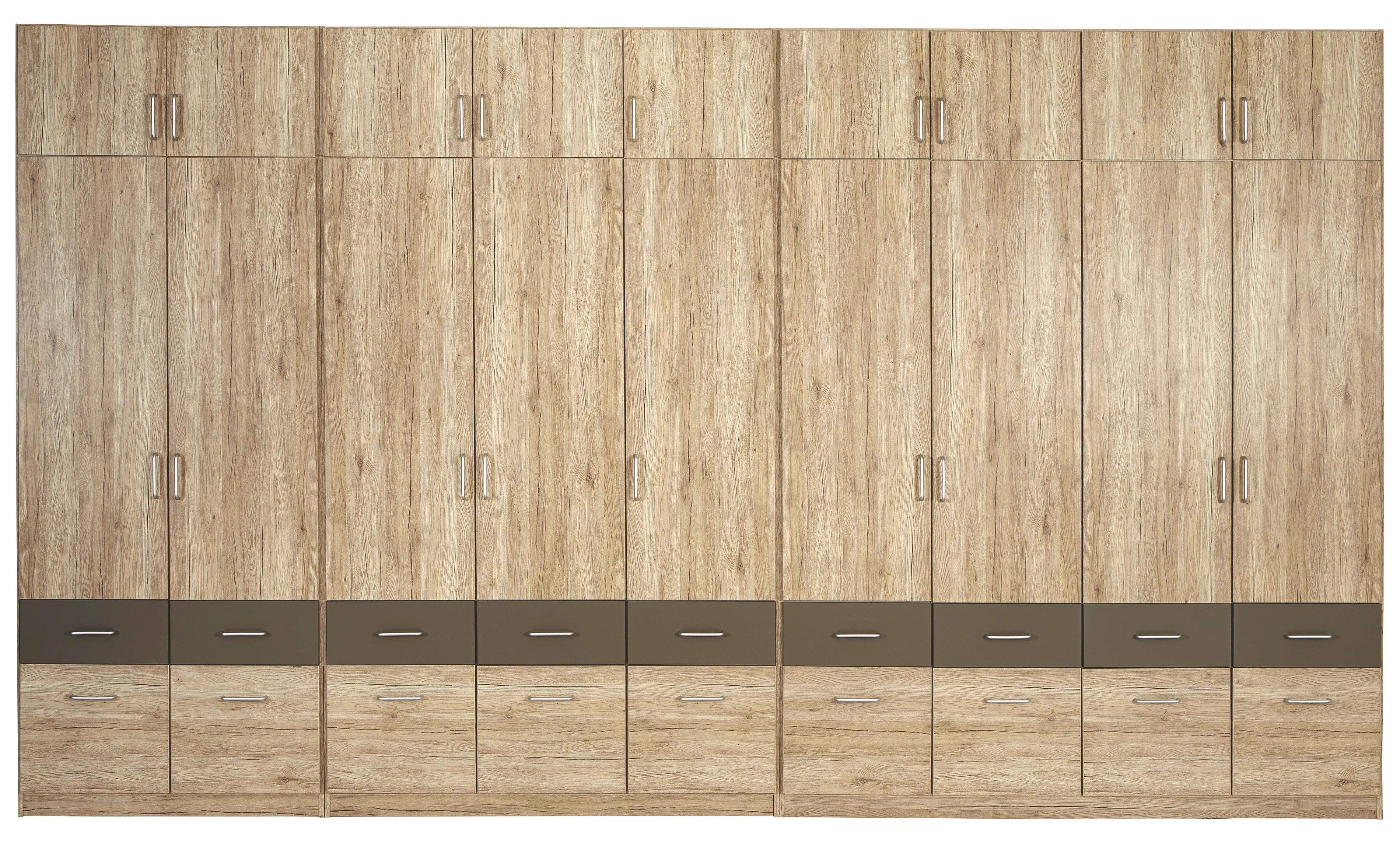 Ruhásszekrény Aalen-extra - szürke, konvencionális, faanyagok (136/197/54cm)