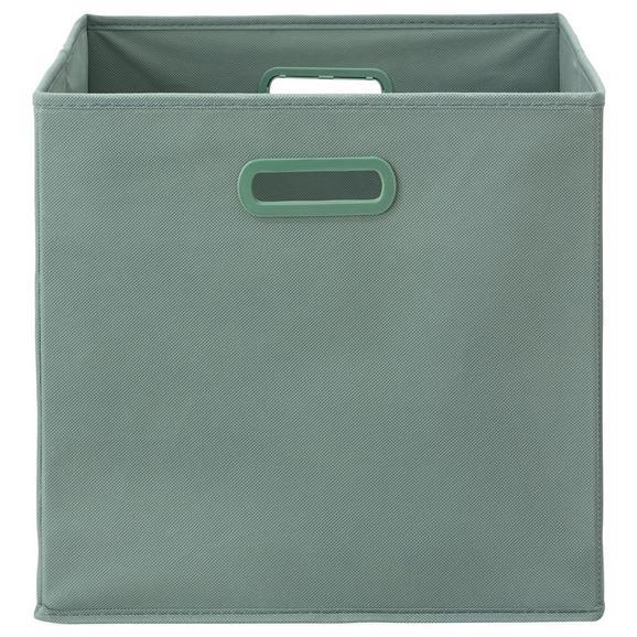 Faltbox Elli in Jadegrün - Jadegrün, MODERN, Karton/Textil (33/33/32cm) - Modern Living