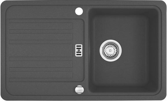 Spüle Spüle Euroform Efg614-78 - Graphitfarben, MODERN (78/26/47,5cm) - FRANKE