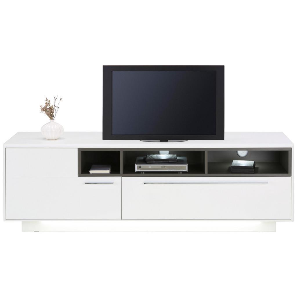 TV-Element in Weiß inkl. Beleuchtung