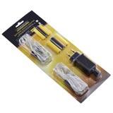 Batterie-Ersatz-Adapter Klaus Schwarz/Gelb - Gelb/Schwarz, Kunststoff/Metall