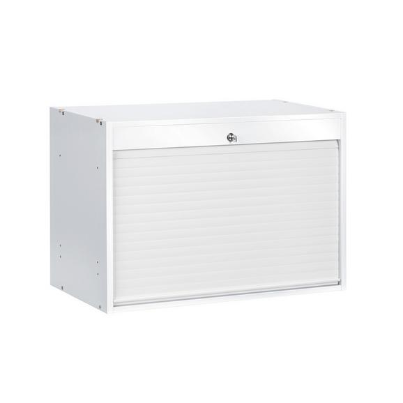 Rollo-Einsatz in Weiß - Weiß, MODERN, Holzwerkstoff/Kunststoff (76/51,4/39cm) - Mömax modern living