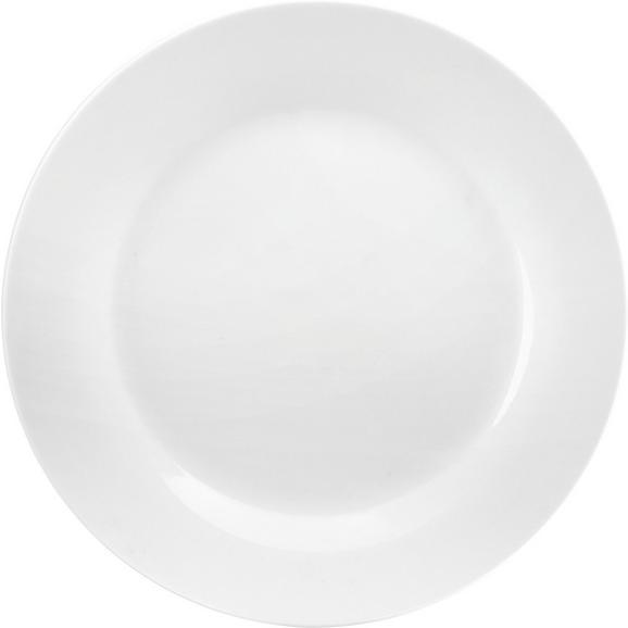 Speiseteller Adria aus Porzellan Ø ca. 27cm - Weiß, KONVENTIONELL, Keramik (27cm) - Mömax modern living