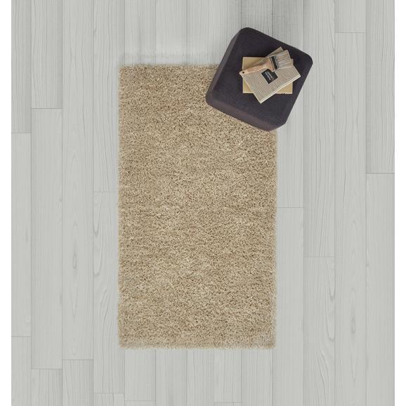 Hochflorteppich in Beige ca.80x15cm 'Shaggy' - Beige, MODERN, Textil (80/150cm) - Bessagi Home