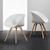 Stuhl Emely - Buchefarben/Weiß, MODERN, Holz/Kunststoff (56/78/50,5cm) - Modern Living
