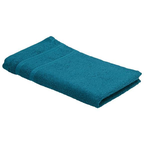 Vendégtörölköző Melanie 30/50 - Olajkék, Textil (30/50cm) - Mömax modern living