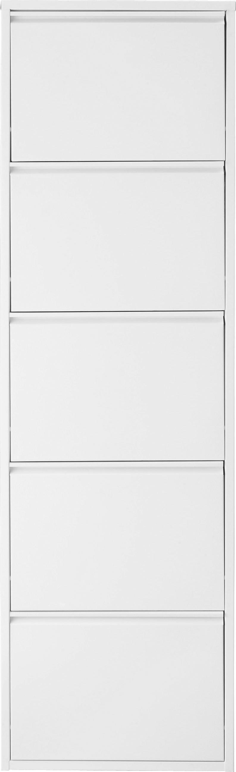 Schuhkipper in Weiß aus Metall - Weiß, Metall (50/169/15cm) - MÖMAX modern living