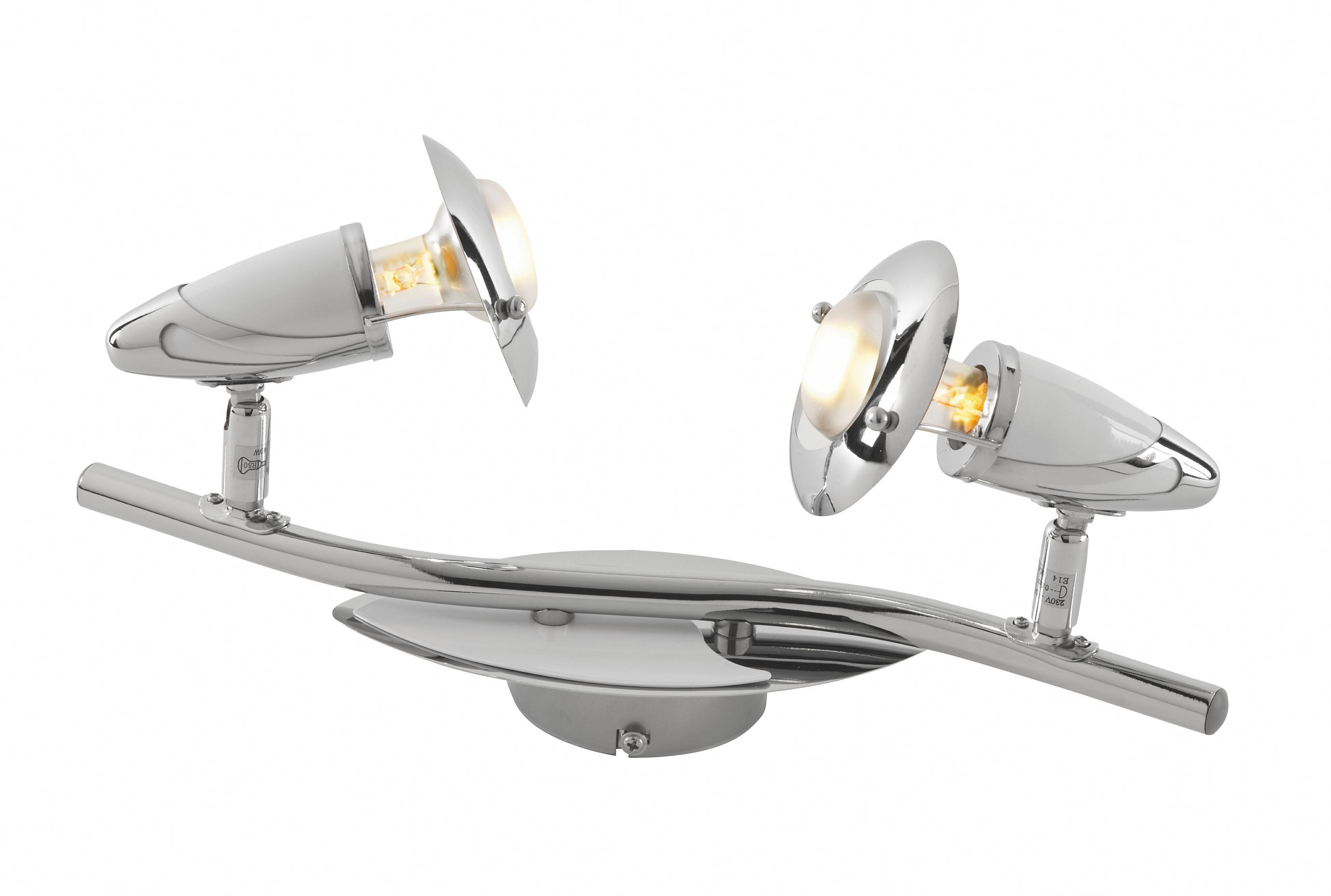 Reflektor Lord - bela/krom, Trendi, kovina (40cm) - MÖMAX modern living