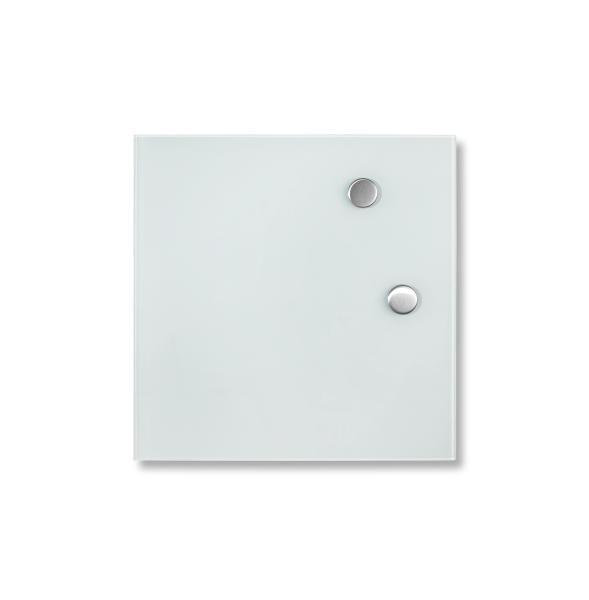 Pinnwand mit Magnete - Weiß, MODERN, Glas (35/35cm) - MÖMAX modern living
