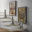 Schachfigur Chess aus Kunststoff - Silberfarben, LIFESTYLE, Kunststoff (26/41/24cm) - Modern Living