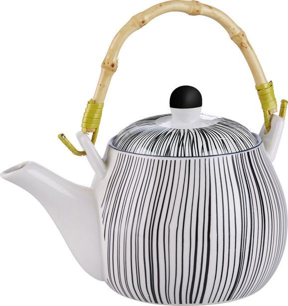Teekanne Shiva verschiedene Designs - Schwarz/Weiß, LIFESTYLE, Keramik (18/11cm) - Mömax modern living