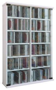 Best of home Rollregal für CDs 170 cm x 30 cm x 10 cm Weiß