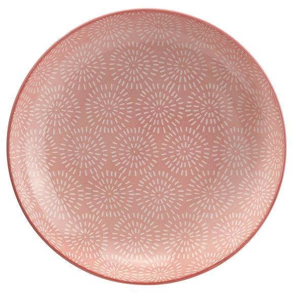 Farfurie Adâncă Nina - roz, ceramică (21cm) - Modern Living