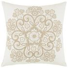 Okrasna Blazina Louise - sivo rjava/bela, Romantika, tekstil (45/45cm) - Mömax modern living