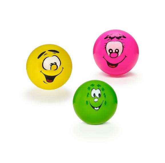 Spielball Smiley in verschiedenen Farben - Pink/Gelb, Kunststoff (23cm) - Mömax modern living