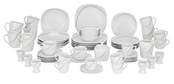 Kombinirani Servis Mona -top- - siva/bela, Konvencionalno, keramika - Mömax modern living