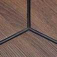 Couchtisch in Walnussfarben/ Schwarz ca.60x51cm 'Henrik' - Walnussfarben/Schwarz, Basics, Holz/Metall (60/51cm) - Bessagi Home