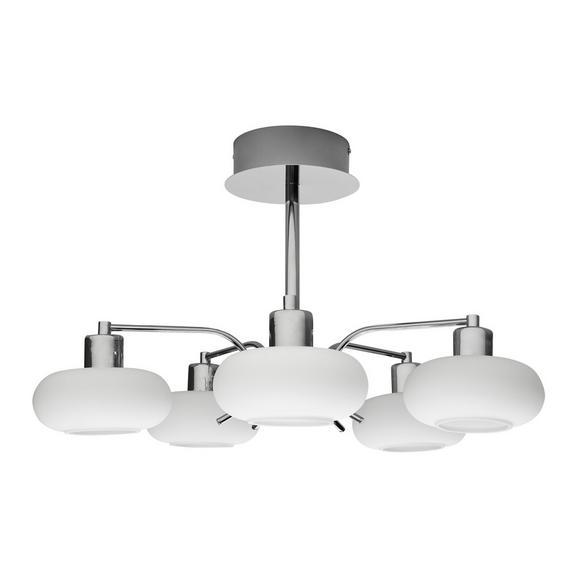 LED-Deckenleuchte max. 5 Watt 'Taylor' - Chromfarben, MODERN, Glas/Metall (54/32cm) - Bessagi Home