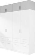 Nastavek Za Omaro Celle - aluminij/bela, Moderno, umetna masa/les (181/40/54cm) - Premium Living