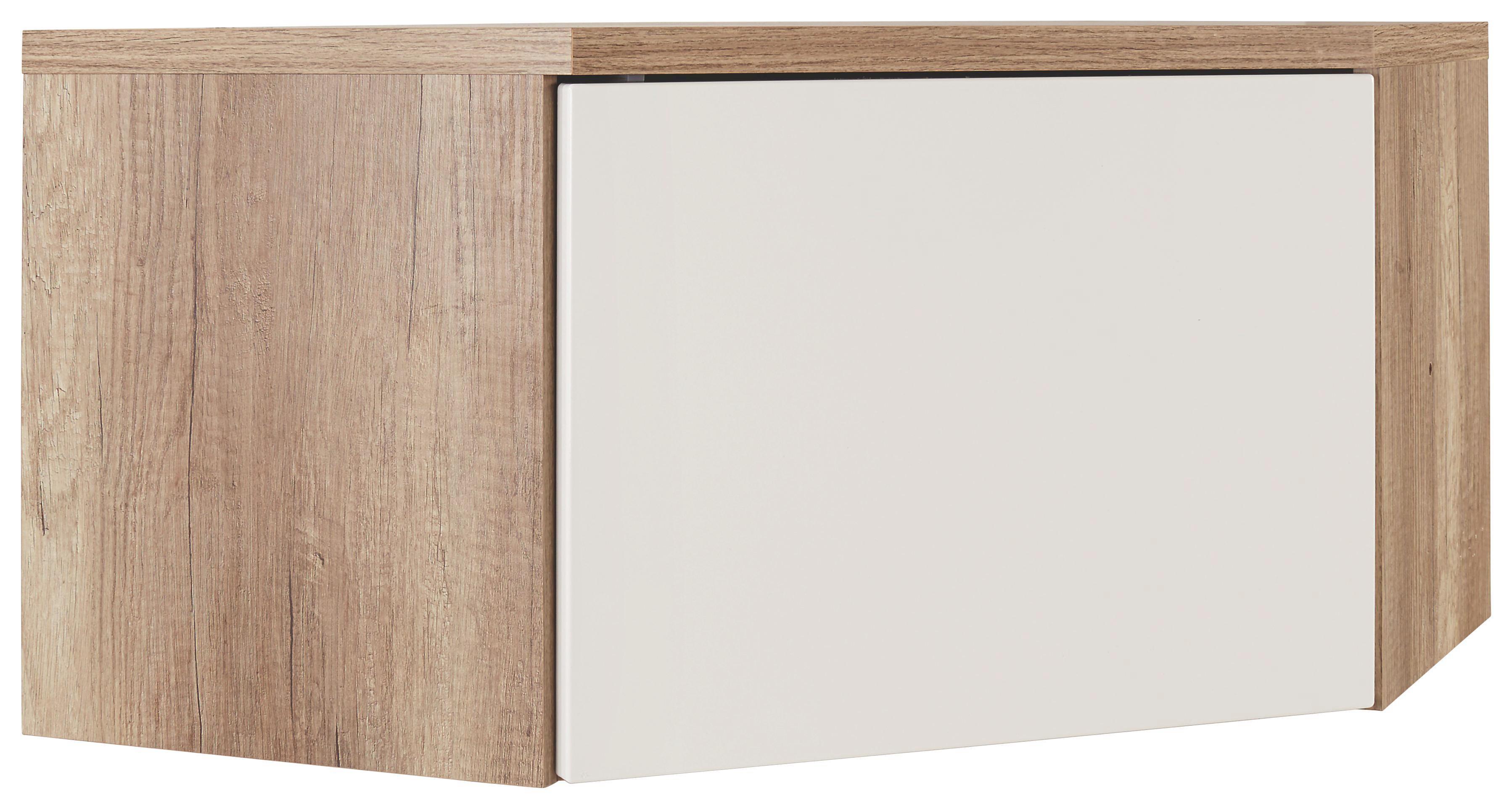 Előszoba Rátét Sarokszekrény Space - tölgy színű/fehér, modern (70/40/70cm)