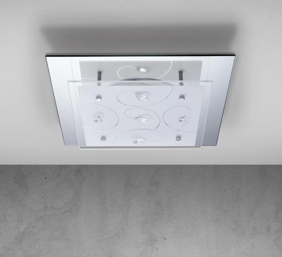 LED-Deckenleuchte Amy - Weiß, MODERN, Glas/Metall (29/29cm) - MÖMAX modern living