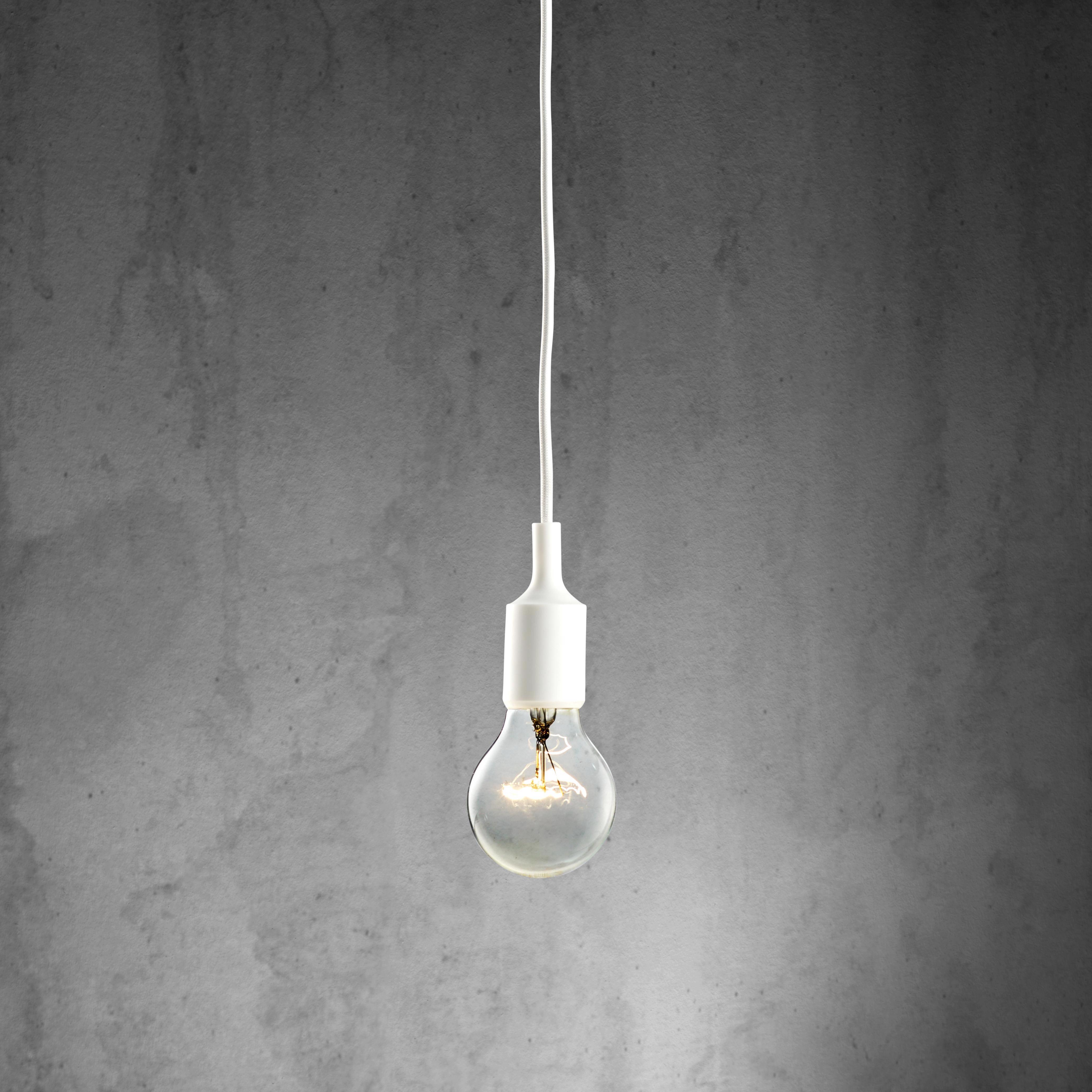 Hängeleuchte abby - Weiß, MODERN, Kunststoff (9/92cm) - MÖMAX modern living