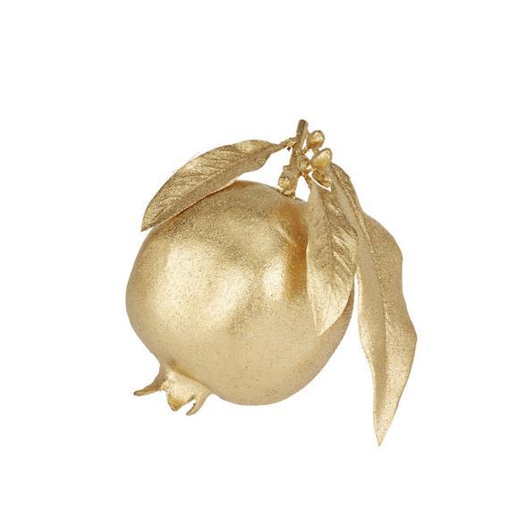 Okrasno Jabolko Noella - zlata, umetna masa (12,5cm)