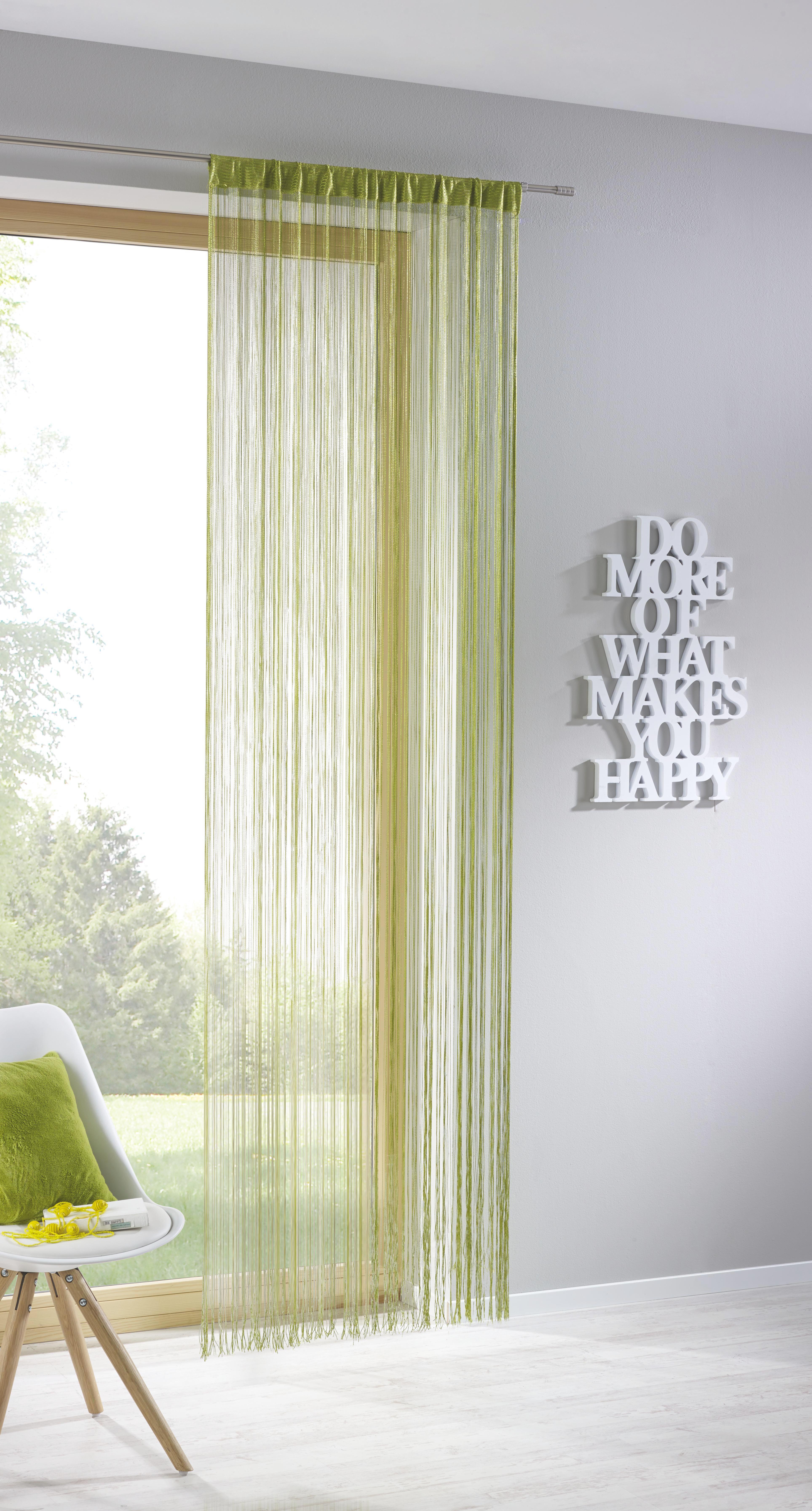 Fadenstore Franz in Grün, ca. 90x245cm - Grün, Textil (90/245cm) - MÖMAX modern living