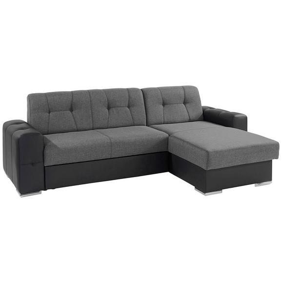 Canapea Modulară Fulton - gri închis/negru, Basics (260/160cm)