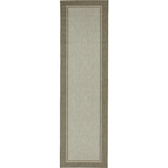 Flachwebeteppich Naomi in Grau ca. 80x300cm - Grau, KONVENTIONELL, Textil (80/300cm) - Mömax modern living