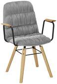 Stuhl Jan - Buchefarben/Hellgrau, MODERN, Holz/Textil (65/59/86cm) - Modern Living