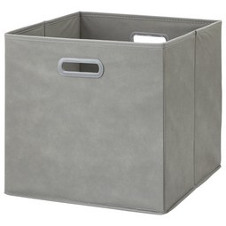 Faltbox Elli Grau - Grau, MODERN, Karton/Textil (33/33/32cm) - Modern Living