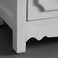 Buffet in Weiß/Grau/Braun 'Florina' - Bronzefarben/Braun, MODERN, Glas/Holz (75,5/175/32cm) - Bessagi Home