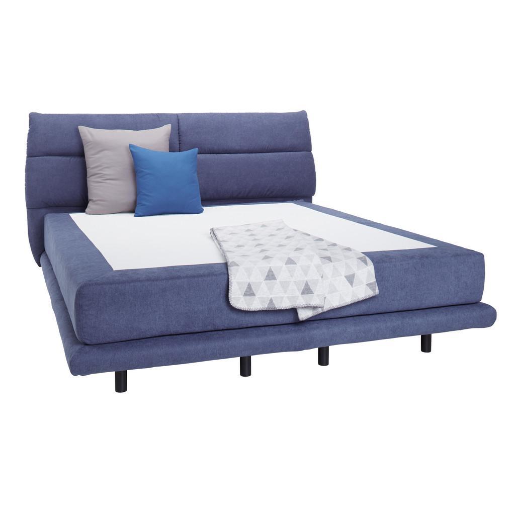 boxspringbett blau 160x200cm carmelo styling. Black Bedroom Furniture Sets. Home Design Ideas