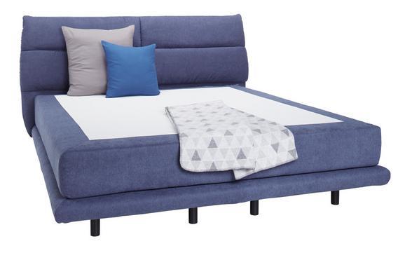 Boxspringbett in Blau ca. 160x200cm - KONVENTIONELL, Textil (160/200cm) - Premium Living