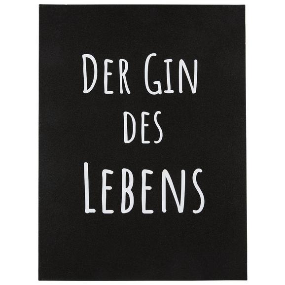 Metallbild Gin in Weiß - Multicolor, LIFESTYLE, Metall (30/40cm)